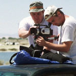 Directors Chris Metzler and Jeff Springer lineup a shot