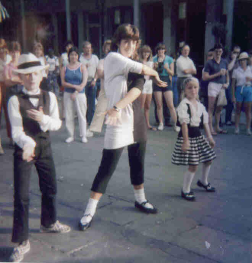 Young kids performing a dance routine