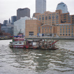 Homemade boat leaves New York City harbor
