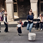 Kids dancing in the street