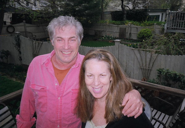 Married filmmakers Victor Zimet and Stephanie Silber smiling