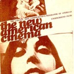 Poster promoting American avant-garde films screening in Britain