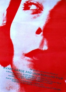 Movie poster featuring a washed out photo of a red woman