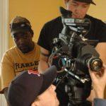 DP Jonathan Stevens behind the camera.