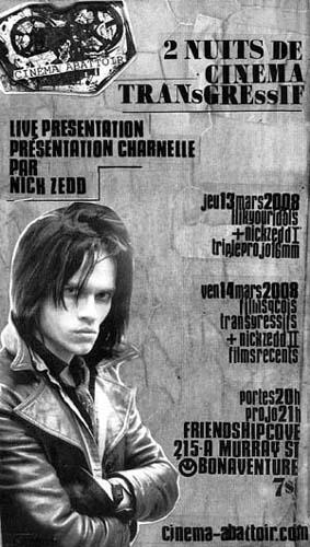 Movie poster featuring Nick Zedd