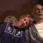 Elderly woman and her corpse husband