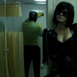 Dominatrix makes her subject clean a hotel bathroom