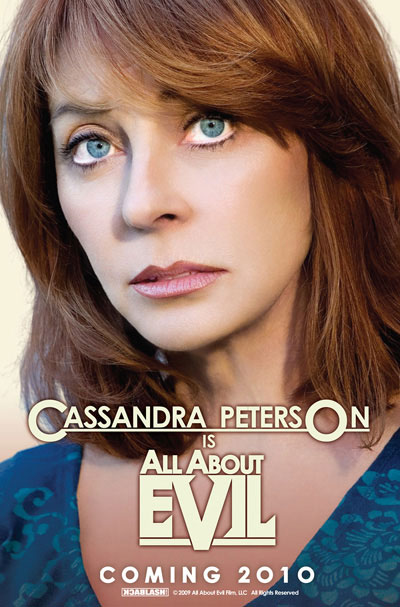 Closeup of the beautiful Cassandra Peterson in the film All About Evil