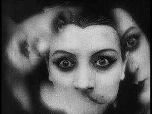 Kaleidoscope image of a woman's face