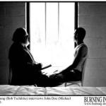 Dr. Young (Bob Tschilke) interviews John Doe (Michael Wrann)