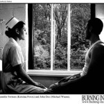 A nurse and an amnesia victim sit in front of a window