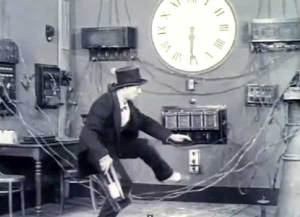Man creeps into tech room with giant clock