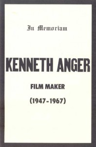 Fake obituary for Kenneth Anger