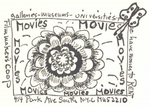 Movie poster for a screening of underground films