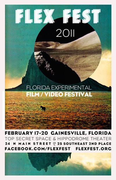 Film festival poster featuring a desert scene