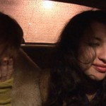 Mary (Molly Plunk) and Muna (Manal Kara) ride in a taxi