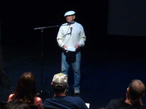 Bruce Baillie on stage at the Redcat Theater in Los Angeles