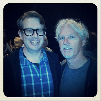 Actor William Katt poses next to Mike Everleth