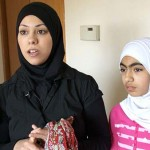 Amal Abusumayah and her daughter wear their hijab