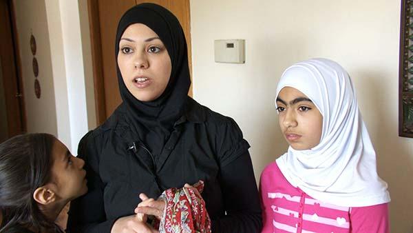Amal Abusumayah and her daughter wear their hijab