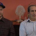Musician Marwan Kamel sits with his father