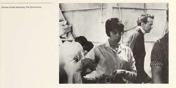 Filmmaker Shirley Clarke directing The Connection