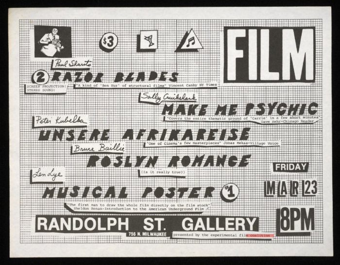 Flyer for a film screening in Chicago