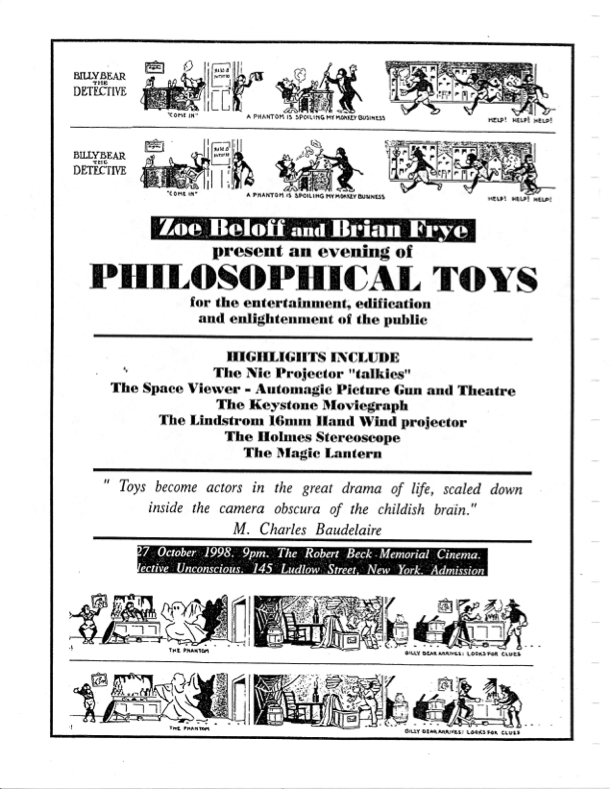 Poster promoting a screening of expanded cinema performances