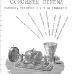 Poster promoting a screening of films by Bruce McClure, Michael Johnsen and more