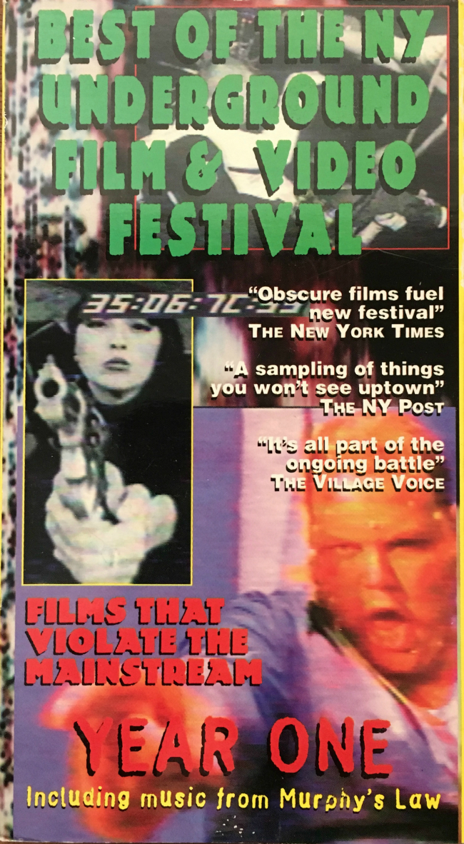 Front cover to VHS tape for Best of the New York Underground Film & Video Festival