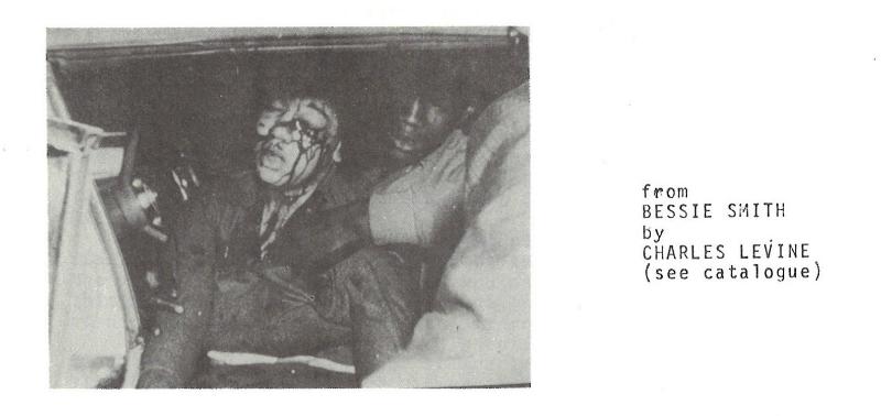 Film still from Bessie Smith by Charles Levine