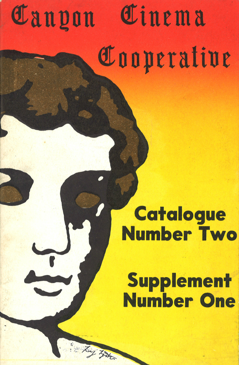Front cover to Canyon Cinema Cooperative Catalog #2, Supplement No. 1