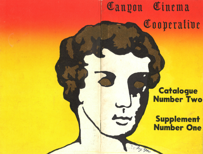 Full cover to Canyon Cinema Cooperative Catalog #2, Supplement No. 1