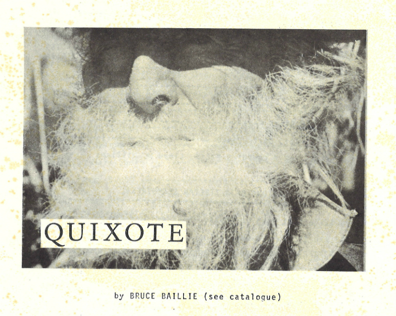Film still from Quixote by Bruce Baillie