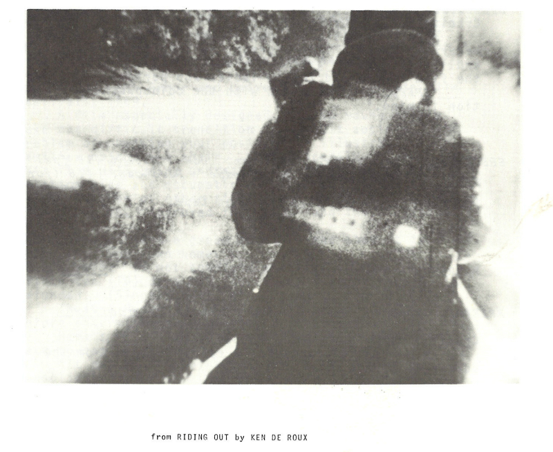 Film still from Riding Out by Ken De Roux