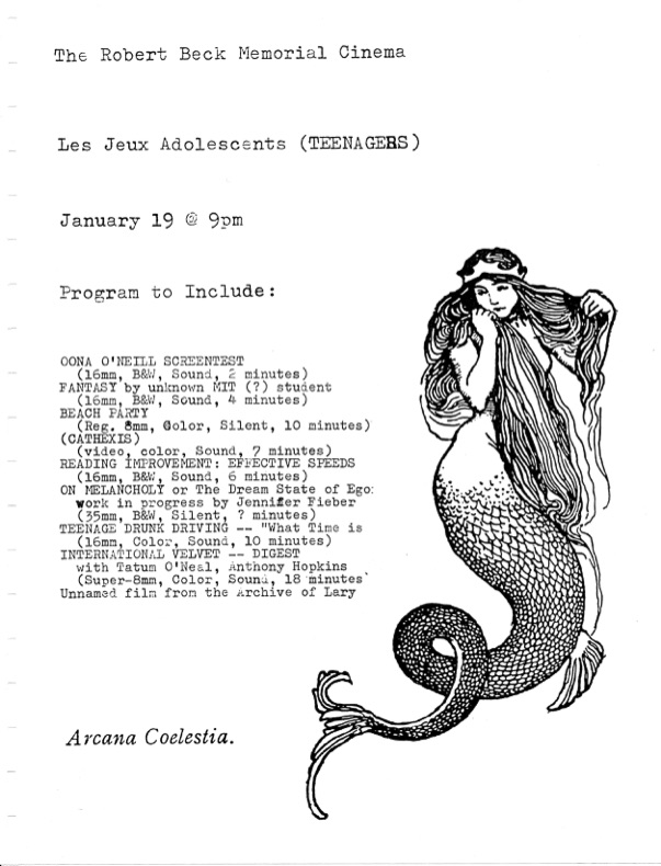 Film flyer featuring a mermaid