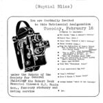 Film flyer featuring a Bolex camera