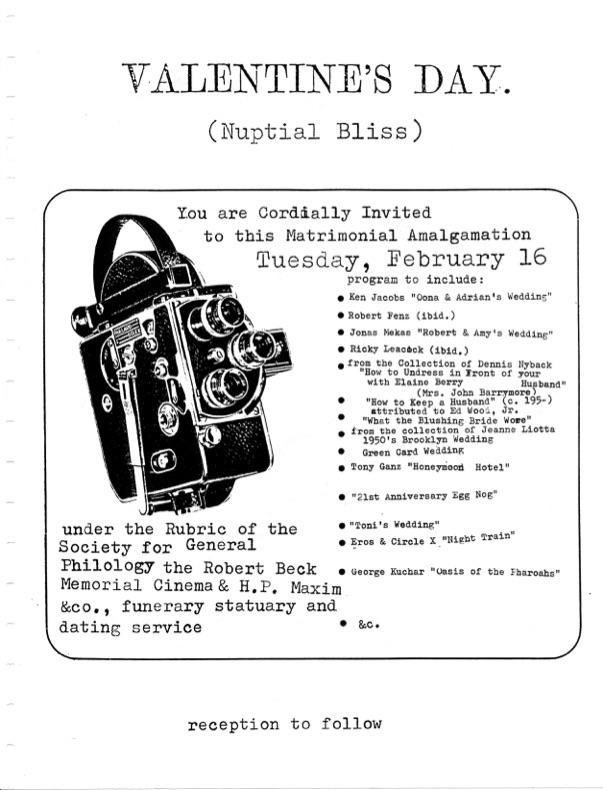Film flyer featuring a Bolex camera