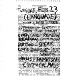 Film flyer featuring handwritten text on printed text