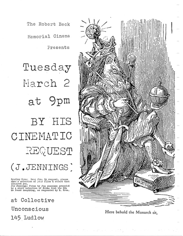 Film flyer featuring a drawing of a king