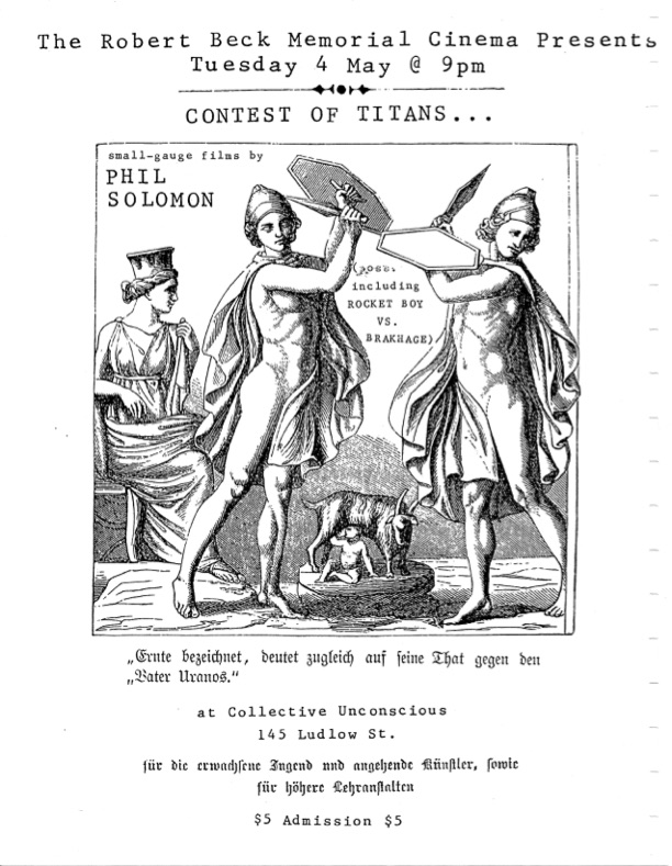Film flyer featuring two knights fighting