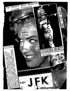 Film flyer featuring Marilyn Monroe with her eyes cut out