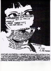 Poster for the 1970 New York Underground Film Festival