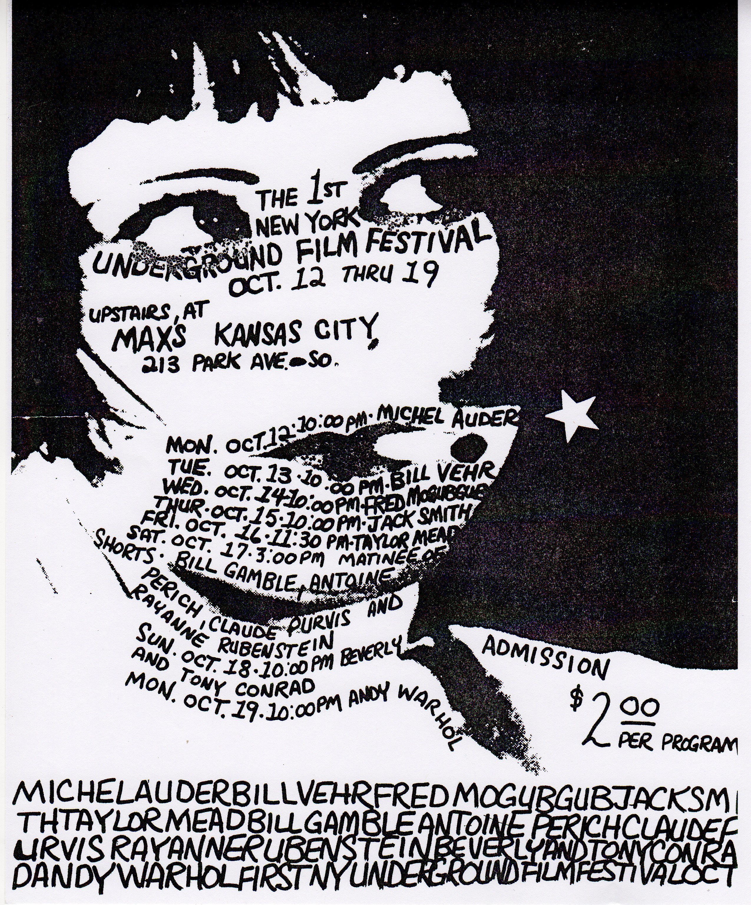 Poster for the 1970 New York Underground Film Festival
