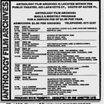 Anthology Film Archives advertisement from the Village Voice 12.24.18