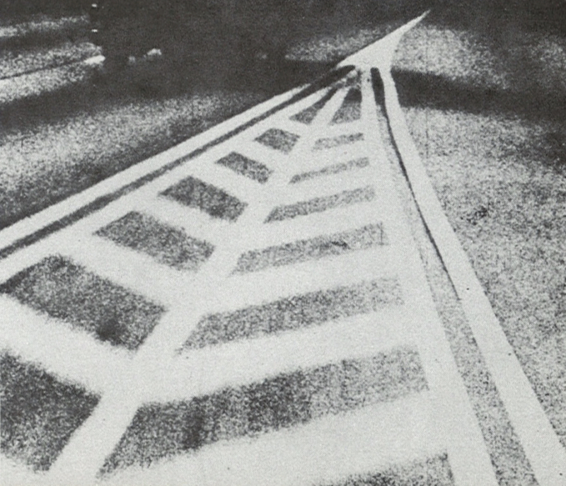 Film still of a road from Highway by Hilary Harris