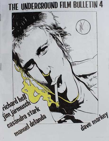 Cover of the fourth issue of the Underground Film Bulletin featuring a crude drawing