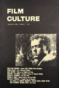 Cover to first issue of Film Culture magazine featuring a photo of Orson Welles as Othello
