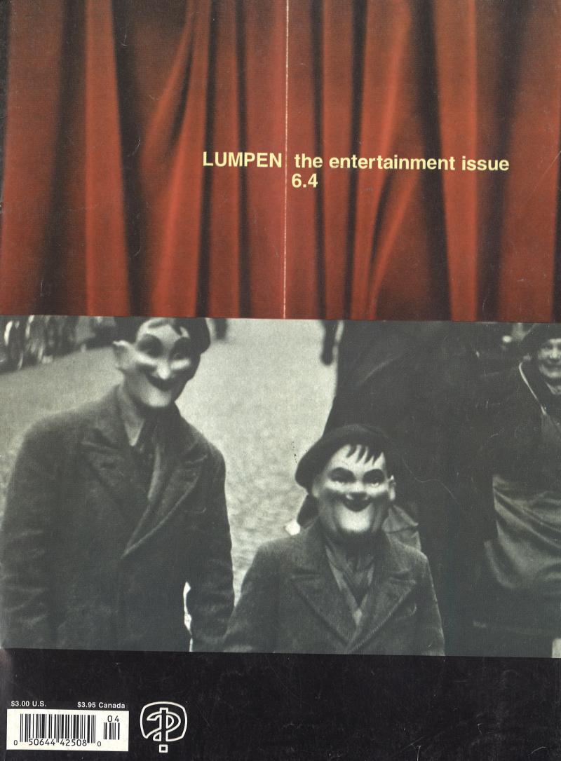 Cover to zine Lumpen, vol. 6 no. 4