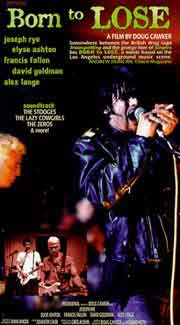Poster for documentary movie Born to Lose, which chronicles the life of Johnny Thunders